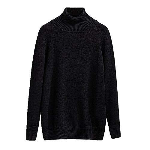 NP Grote dames trui coltrui onderaan trui T-shirt - zwart - 3XL