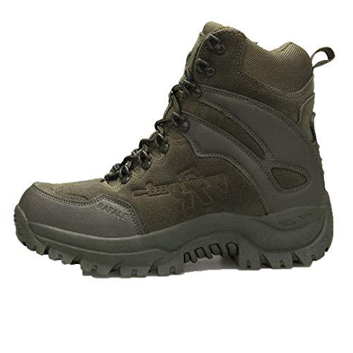 TH&Meoostny Hombres Camuflaje Botas de Caza Antideslizante Zip Roca Escalada Zapatos balanceable Transpirable Masculino Zapatillas de Deporte Green A09 46