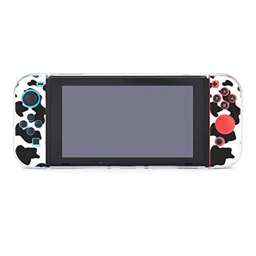 Schutzhülle für Nintendo Switch (kratzfest), kompatibel mit Switch und Joy-Con-Controllern, Split-5-teilig, weiche Spielkonsole, Kuh-Druck