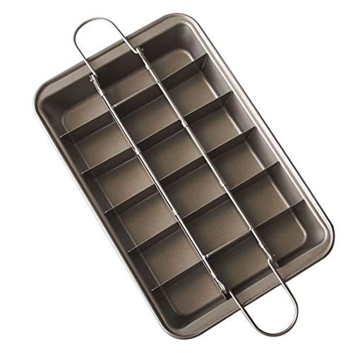 Enerhu Carbon Steel Loaf Pan Nonstick Bread Pan Tray with Multi Compartment Bakeware Set