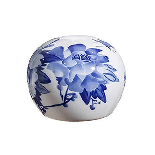 Lwieui Pantalla de lámpara Lámpara de Mesa de Bolas Redondas Lámpara de pie de Flores Ovalada Cubierta de cerámica Protectora de Cristal. Pantallas (Color : Colour 2, Size : One Size)