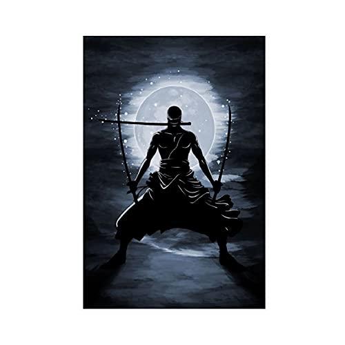 Leinwand-Poster, Anime, One Piece, 93, Wandkunst, Deko, Bild, Gemälde für Wohnzimmer, Schlafzimmer, Dekoration, 30 x 45 cm, ohne Rahmen