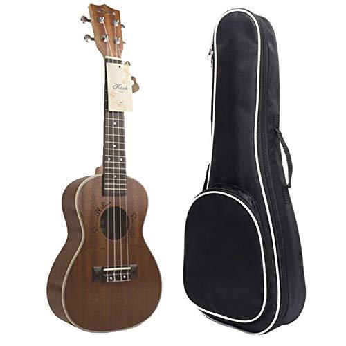 MOMIN Ukulele Concert Ukulele Ukulele Profesional 24 Pulgadas de Madera Acabado Mate Hijos Adultos Regalo con el Bolso de la Guitarra Ideal para Principiantes (Color : Wood, Size : 24 Inches)