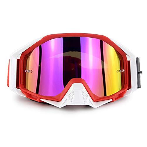 Lunettes de Ski de Snowboard Protection UV Anti-buée Lunettes de Ski de Snowboard Ventilation améliorée Coupe-Vent pour Homme,Femmes,Compatible avec Le Casque Lunettes de Neige,C