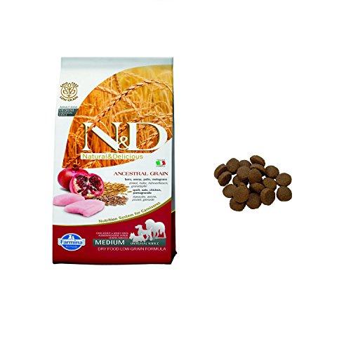 Farmina N&D Adult Medium Low Grain, Pollo e Melograno, 12 kg