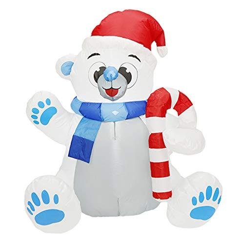 Wsaman Aufblasbare Weihnachtsmann Schneemann-Puppe, Aufblasbarer Weihnachtsbär Mold Gartendekoration-Partei-Spielzeug Mit LED-Licht Windundurchlässigem für Yard/Party/Indoor/Outdoor/Rasen