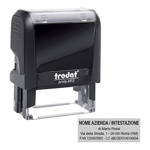 Timbro Autoinchiostrante Trodat Printy 4912 Personalizzato mm 47X18 Completo di Personalizzazione