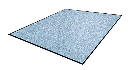 Andersen 1959106 Classic Impressions Solid Nylon Faser Innenraum Bodenmatte, Nitrilgummirücken, 830 g/sq. m, 75 cm Breite x 85 cm Länge, Hellblau