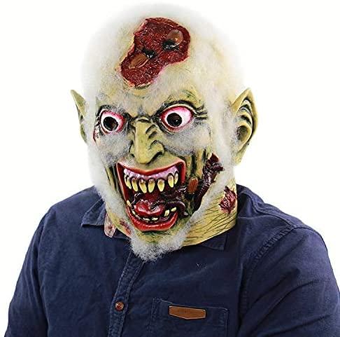 ZZTQ Halloween Horror Divertido Miedo Zombie máscara de látex con la Circunferencia de la Cabeza 65 o Menos for Usar