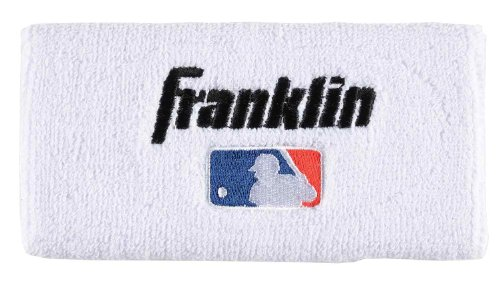 Franklin Sports Professional Wristbands, White, 6-Inch by Franklin Sports