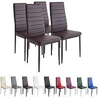 Albatros 2554 Milano Set de 4 sillas de Comedor, marrón