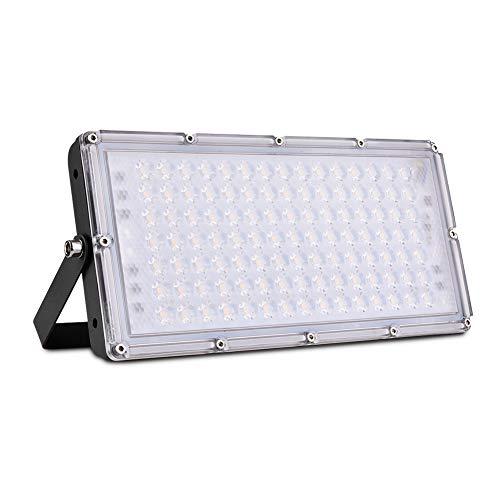 Viugreum Faro LED Esterno 100W, IP66 Impermeabile, Luce Di Sicurezza 8000LM, 3000K Bianco Caldo, Consumo Basso Super Luminoso per Giardino, Magazzino