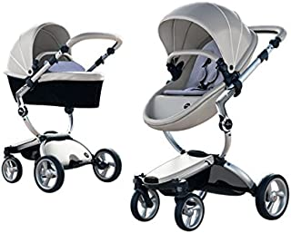 Mima Xari Stroller Authorized Seller (Aluminum Chassis, Argento Seat, Pixel Blue Starter Pack)