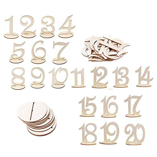 Alinay Wooden Wedding Table Number 1 to 20 Wedding Party Home Table Decoration