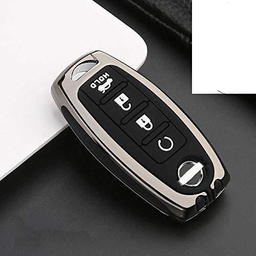 NASHDZ Cubierta de la Caja de la Llave del Coche de aleación de Zinc, para Nissan X-Trail T32 Murano Qashqai Versa Tidda Cube, para Infiniti EX FX G25 FX35 EX