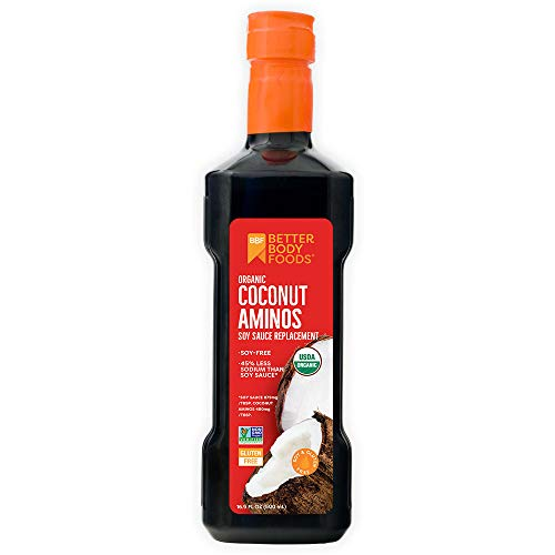 Organic Coconut Aminos Soy Sauce Replacement, 16.9 Ounces