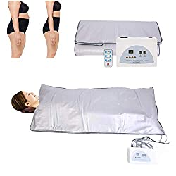 Digital Far-Infrared Heat Sauna Blanket 2 Zone Controller for Body Shaping Weight Loss Reduce Weight Thin Body Detox Anti Ageing Beauty Machine Body Fitness Machine