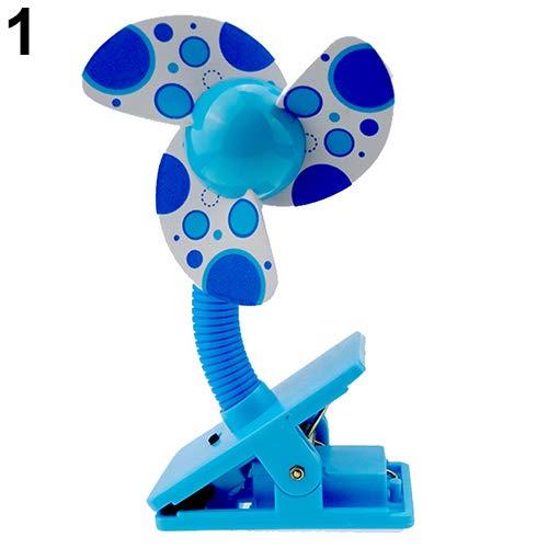 Danigrefinb Veilige Zachte Messen Draagbare Flexibele Clip Op Mini Fan voor Baby Pram Kinderwagen Kinderbedje Elektronica Gadgets Accessoires Eén maat Blauw