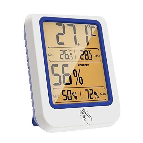 YWSZJ Misuratore di umidità della Temperatura Termometro a Termometro a retroiltro del termometro del termometro Igrometro con Display LCD Grande