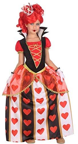 Fancy Me Mädchen Lange Herzkönigin Alice im Wunderland Karneval Weltbuch-Kostüm Halloween Kostüm Outfit 3-12 Jahre