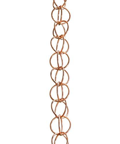 Monarch Rain Chains 23805, Pure Copper Monarch Ring Rain Chain, 8-1/2-Feet Length, 8.5 Ft