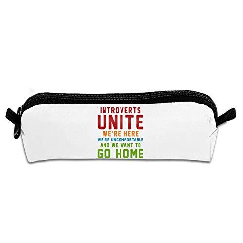 Introverts Unite We're Here We're Incomfortable - Estuche para lápices, organizador escolar