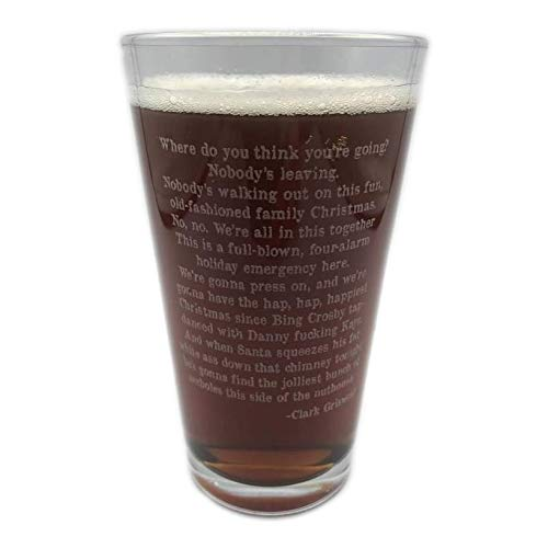 Christmas Vacation Quote Clark Griswold Craft Beer Pint Glass Laser Engraved 16 oz Jolliest Bunch Of Assholes Funny Stocking Stuffer Gift