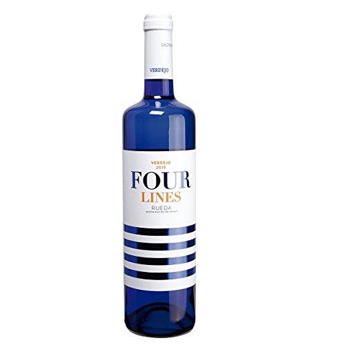 FOUR LINES vino blanco verdejo DO Rueda botella 75 cl