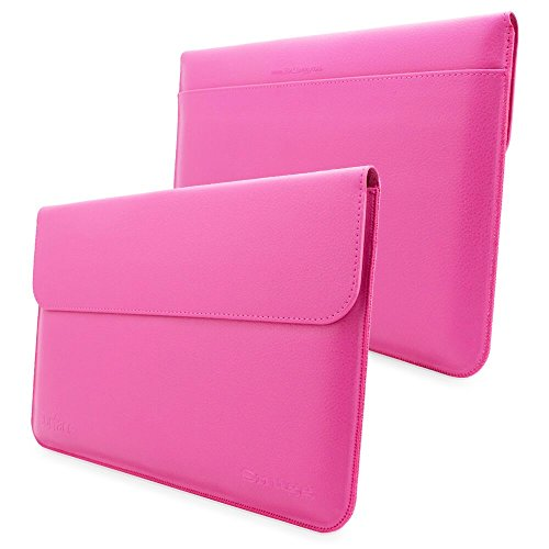 Snugg Surface Pro, Pro 4 and Pro 3 Sleeve - Magenta Leather Sleeve Case Protective Cover