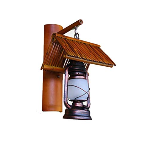 DKEE. luci da Parete * Lampada da Parete Bamboo Ristorante Corridoio Cortile Balcone Fatto A Mano di bambù Decorativo Lampada Lampade E27-Escludendo Sorgente Luminosa