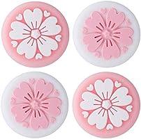 4 stuks siliconen sakura joy-con duimgreep set joystick caps schakelaar en schakelaar lite cover analoge thumbstick...
