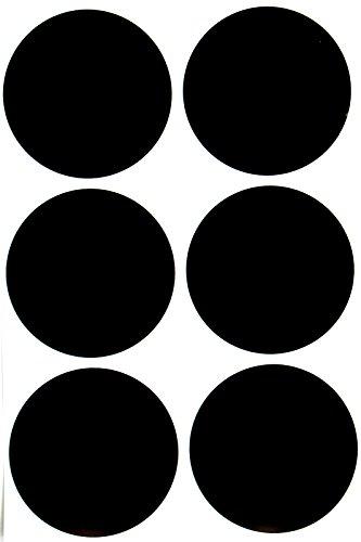 Royal Green Pegatinas Negro Redondas de 50mm Etiquetas en Forma de Puntos Adhesivo Permanente Pegatina Redonda Paquete de 180