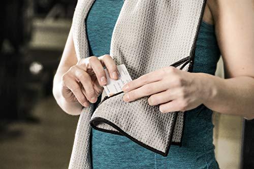 Banters Mikrofaser-Handtuch in grau für Sport und Fitness | Sporthandtuch für Workout und Kraft-Training im Fitnessstudio (mit Geschenkverpackung) - 2