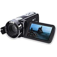 CamKing Videocámara Cámara Digital, Cámara de Video Full HD 1080P 24MP Pantalla LCD de Rotación 270° 16X Zoom Digital