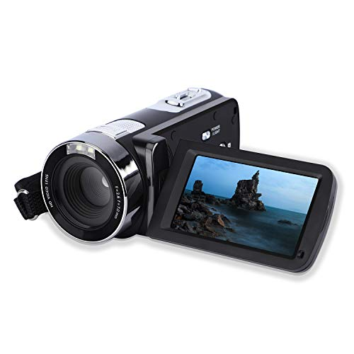"Video Camera Camcorder,CamKing DV01 24MP HD 1080P 18X Beauty Function Digital Video Camcorder with 3.0"" LCD and 270 Degree Rotation Screen Digital Camera Bag for Travel/Party"