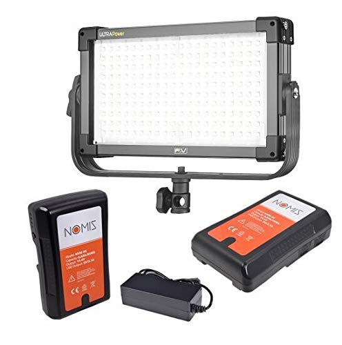 F&V K2000 Power Daylight LED Panel - 2723 Lux, 5600K Set with 2 Batteries, Charger and Light Stand