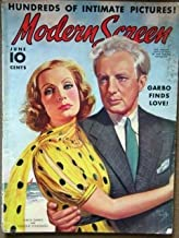MODERN SCREEN magazine, issue dated June 1938 with Greta Garbo and Leopold Stokowski on the cover (fabulous image). Two page advertisement inside for ROBIN HOOD with Errol Flynn, great shirtless image of Humphrey Bogart, Terrific Deanna Durbin article,