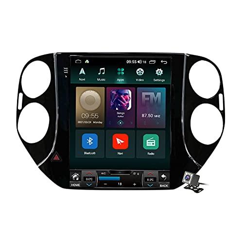 Buladala Android 11 Pantalla Vertical 9.7' Reproductor de automóvil Multimedia Navegación GPS para Volkswagen Tiguan 1 NF 2007-2016 Soporte FM Am RDS Autoradio Stéreo/Carplay Auto/SWC/BT,Ts3