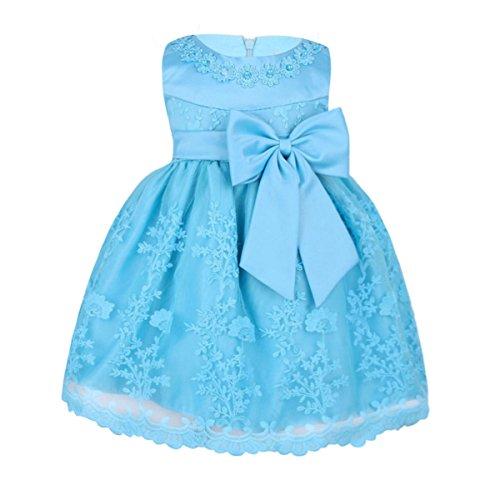TiaoBug Babykleider Mädchen festlich Baby Kleid Taufkleid festlich Prinzessin Party Kleid Festzug Kleidung 68 74 80 86 92 (86-92 (Herstellergröße: 18M), Himmelblau)