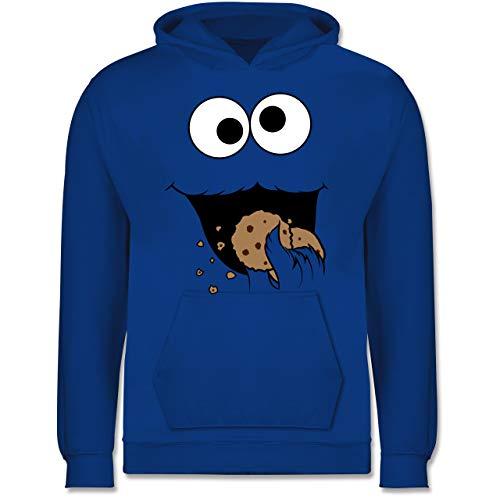 Karneval & Fasching Kinder - Keks-Monster - 128 (7/8 Jahre) - Royalblau - Kinder 2 Jahre - JH001K JH001J Just Hoods Kids Hoodie - Kinder Hoodie
