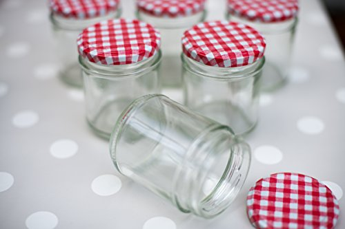 Nutley's 190ml Round Glass Jam Jar with Red Gingham Lid (Pack of 6)