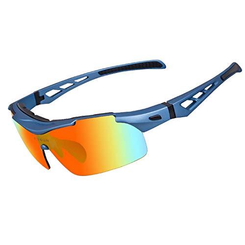 FANCYKIKI Radfahren Brille Fahrrad Farbwechsel Brille Erwachsene Outdoor-Brille Geeignet for Outdoor-Radfahren Liebhaber Radfahren Brille Cricket Fledermäuse Brille (Farbe : Bildfarbe)