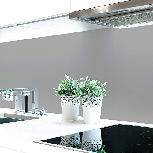 Küchenrückwand Grautöne Unifarben Premium Hart-PVC 0,4 mm selbstklebend - Direkt auf die Fliesen, Größe:Materialprobe A4, Ral-Farben:Signalgrau ~ RAL 7004