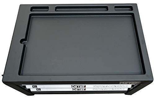 DeTec. Werkzeugkiste 2033 Carbon mit Werkzeug | Werkzeugkasten in blau | 3 Schubladen inkl. 129 tlg. Werkzeugsortiment - 8