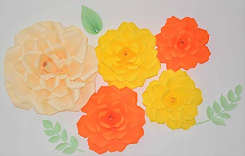 Wand Tischblumen Deko 3D Wandblumen Wandschmuck Deko Blumen