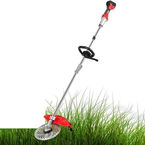LYYJIAJU Kreiselmäher Akku-Batterie Grasschneider Rasenmäher Haushalt Elektro-Rasenmäher, Multifunktionale 3-in-1 Garten kreissäge 580W 21V 3.0Ah