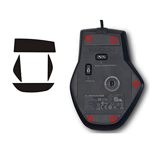 Gaming Mouse Foot Skatez for Alienware TactX Aw558 Aw959 Aw958 Aw310/Aw510/Aw610 Repair Smooth mice (TactX)