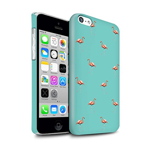 Stuff4® Duro Snap On beschermhoes/Cover/behuizing/telefoon voor Apple iPhone 5C / Vogels/Groen/Flamingo Carino Animato Design