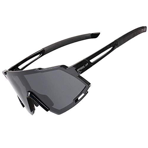 MySixKeen Gafas de Sol Deportivas polarizadas para Hombres, Mujeres, conducción al Aire Libre, Gafas de Ciclismo con Bolsa de Almacenamiento para Correr, Golf, Pesca, Senderismo, béisbol, Impart