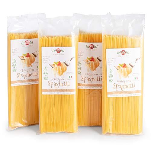 isiBisi Spaghetti Gluten Free Pasta - Made with Rice and Corn Flour - Quality, Authentic Gluten Free Spaghetti - Vegan, Non-GMO Pasta - Made in Italy (64 oz - 4 Pack)